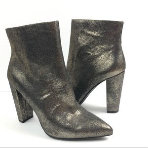 Jessica Simpson gold teddi booties